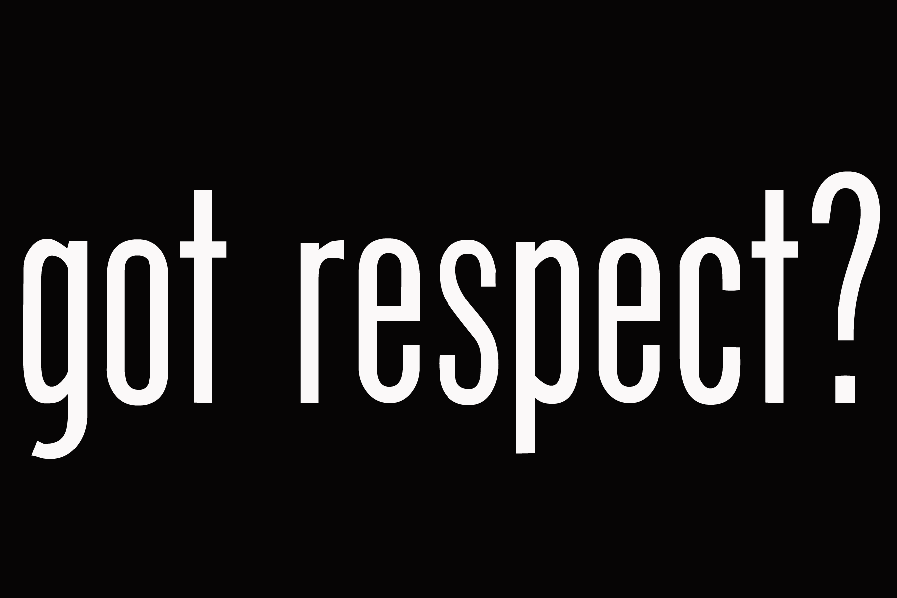 Respect is Reciprocal