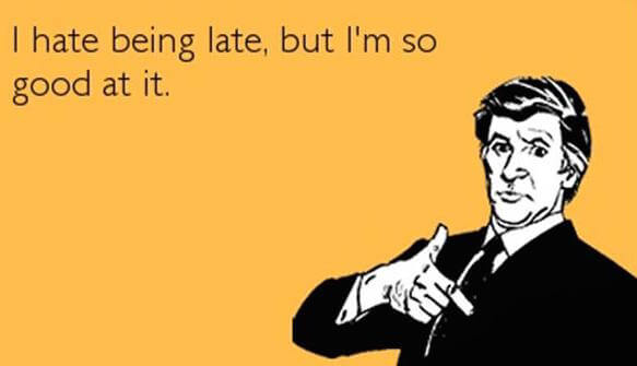 Being Fashionably Late in the Workplace