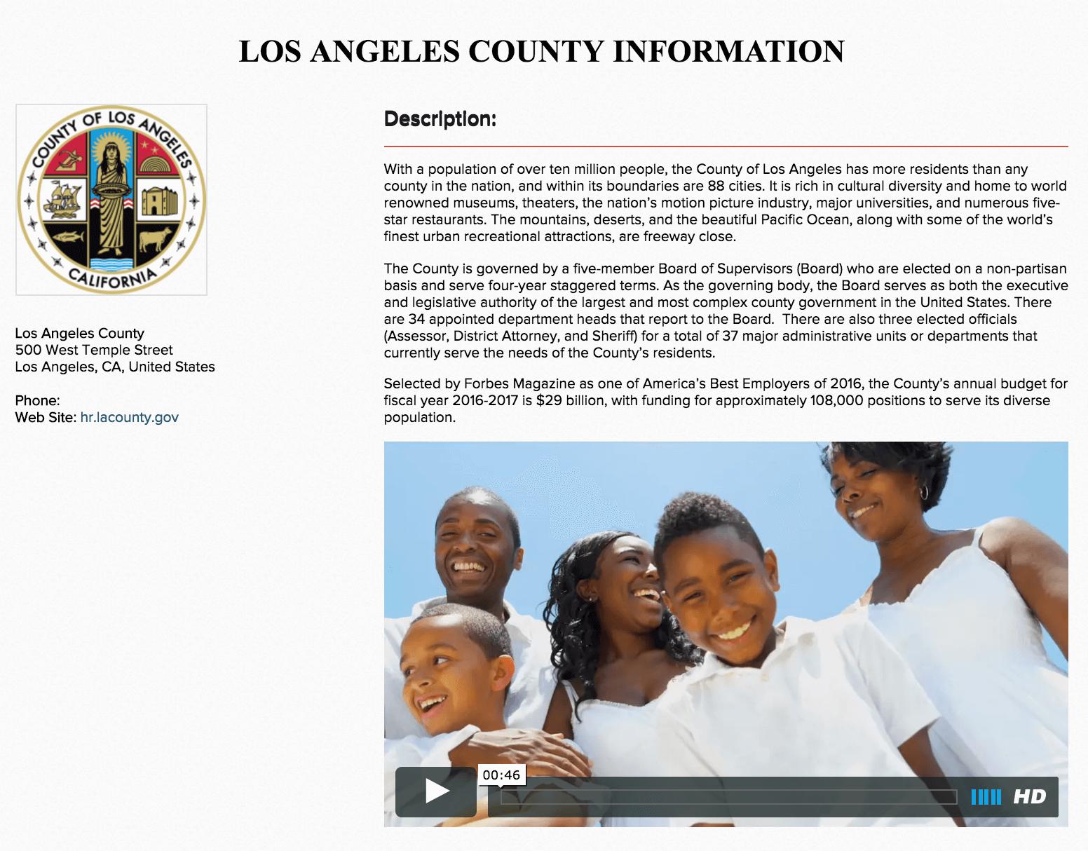 employer profile LA County